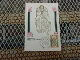 FRANCE (1966) MILLENAIRE DU MONT SAINT MICHEL - Cartoline Maximum