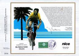 """(Tirage 5000 Ex) """"  TOUR DE FRANCE / LES ETAPES /  NICE """" Sur Feuillet CEF Spécial. Parfait état - Ciclismo"""