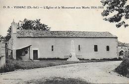 17)   VIBRAC  -  L' Eglise Et Le Monuments Aux Morts 1914 - 1918 - France