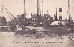 CPA - 80 - LE CROTOY - Le Picardie Au Port Bâteau D'excursion Du Crotoy Au Tréport - 3209 - Le Crotoy