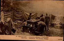 GUERRE DE 1914....CAMPEMENT D'HINDOUS...LA BOUCHERIE....CPA ANIMEE - Guerre 1914-18