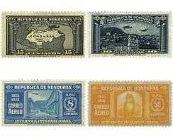 Ref. 592815 * HINGED * - HONDURAS. 1935. DIFFERENT CONTENTS . MOTIVOS VARIOS - Honduras