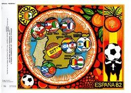 """"""" COUPE DU MONDE 1982 EN ESPAGNE """" Sur Feuillet CEF Spécial De 4 Pages. Parfait état - World Cup"""