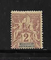 Colonie Madagascar  Timbres De 1896/99 N°29a Neuf * - Neufs