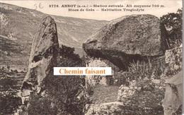04 - CPA ANNOT Habitation Troglodyte - Scans Recto-verso - France