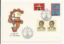 Cover FDC * Angola * 1977 * Luanda * 1º Congresso MPLA - Angola