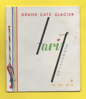 13 - MARSEILLE - Carte Des TARIFS GRAND CAFÉ GLACIER La Canetière Tél. CO 38.13 - Unclassified