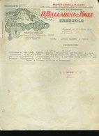 34 SASSUOLO 1950 P. BALLARINI & FIGLI SVECCIA TOI DA GRANO SEPARATORI DA RISO, LETTERA INTESTATA - Italia