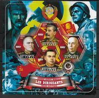 TCHAD   Feuillet  ( 2014 ) * * Guerre Dirigeants Sovietique Rokossovski Timochenko Joukov Staline - 2. Weltkrieg