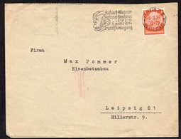 DEUTSCHES REICH 1934. NICE COVER WITH RARE RICHARD WAGNER STEMPEL, LEIPZIG - Germany