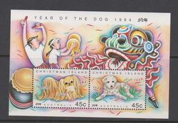 Christmas Island 1994 Year Of The Dog Mini Sheet MNH - Christmas Island