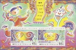 Christmas Island 1995 Year Of The Pig Mini Sheet - Christmas Island