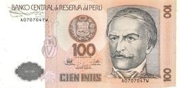 BILLET  PEROU  CIEN INTIS  1987 - Pérou