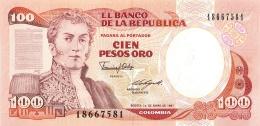 BILLET  COLOMBIE 100 PESOS ORO - Colombie