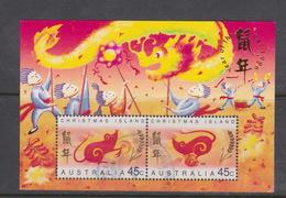 Christmas Island 1996 Year Of The Rat Miniature Sheet Used - Christmas Island