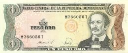 BILLET   REPIUBLIQUE DOMINICAINE  1 PESO ORO - Dominicaine