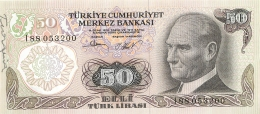 BILLET   TURQUIE BANKASI 50 TURK LIRASI - Turchia