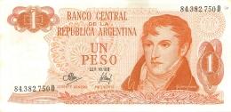 BILLET   ARGENTINE 1 PESO - Argentine