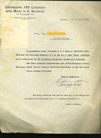 37 TARQUINIA 1947 CELEBRAZIONI XIV CENTENERIO MORTE S. BENEDETTO , COMITATO, LETTERA INTESTATA - Italia