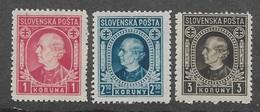 Slovakia 1940-42,Andrej Hlinka,Sc 55-57,VF MNH** (MB-5) - Slovakia