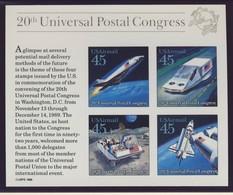 USA 1989 BLOC ESPACE-UPU  YVERT N°B22 NEUF MNH** - Space