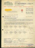 42 VALDUGGIA 1953 , RUBINETTERIE Flli MANFREDI FU CEL.no  LETTERA INTESTATA - Italia