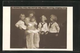 AK Hoheit Frau Elisabeth Marie, Fürstin Zu Windisch-Graetz Mit Kindern - Königshäuser