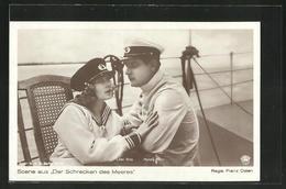 AK Der Schrecken Des Meeres, Filmszene Mit Lilian Gray Und Mylong-Münz - Acteurs