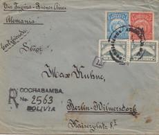 Bolivia/Bolivien: 1920: Cochabamba To Berlin, Censorship - Bolivia