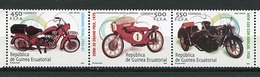 Guinée Equatoriale ** N° 447 à 449 Se Tenant - Motos - Equatorial Guinea