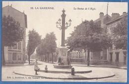 CPA Rare - HAUTS DE SEINE - LA GARENNE COLOMBES - LA STATUE DE L'AIGLE - Petite Animation Enfantine - Robillard / 10 - La Garenne Colombes
