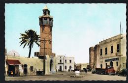 MAHDIA - TUNISIE - La Mosquée Et Place Tahar Sfar - Camion -Auto - Edit HSSIN AYOUB  -Paypal Sans Frais - Tunisia