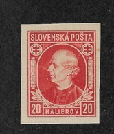 Slovakia 1939,Hlinka Issue,Scott # 28a Imperf,VF-XF MNH**OG (AD-St) - Slovakia