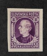 Slovakia 1939,Hlinka Issue,Scott # 29a Imperf,VF-XF MNH**OG (AD-St) - Slovakia