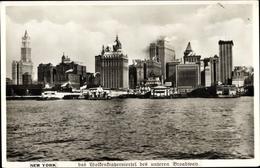 Cp New York City USA, Wolkenkratzerviertel Des Unteren Broadway - NY - New York
