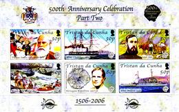 Tristan Da Cunha 911 / 16 ( Feuille Complète ) 500e Anniversaire De La Découverte De L'archipel - Tristan Da Cunha