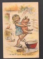 """Carte Postale Illustrée Par GERMAINE BOURET """"ce Qu'il Peut être Cochon"""" (PPP15449) - Bouret, Germaine"""