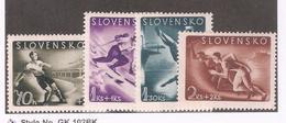 Slovakia 1944,WW-2,Varies Sports,Scott # B21-B24,VF-XF MNH** - Slovakia