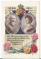Deutsches Reich (002729) Ganzsache PP27 C106 Germania Silberne Hochzeit Des Württemb. Königpaares, Gelaufen Am 8.4.1911 - Deutschland