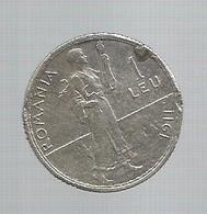 Monnaie , ROUMANIE , ROMANIA ,argent , 1 Leu ,1911 , 2 Scans - Roumanie