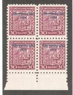 Slovakia 1939,Republic Issue 30h Overprinted Block,Scott # 6,VF MNH**OG - Slovakia