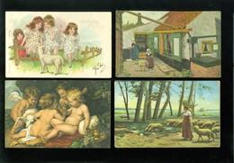 Beau Lot De 60 Cartes Postales De Fantaisie Mouton Agneau Berger  Mooi Lot 60 Postkaarten Van Fantasie Schaap - 60 Scans - Postcards