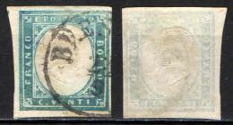 ITALIA REGNO - 1861 - EFFIGIE DEL RE VITTORIO EMANUELE II - 20 CENT. - CELESTE CHIARO - USATO - Used