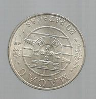 Monnaie , MACAO , MACAU ,  Republica Portuguesa , Portugal , Ponte Macau-Taipa , 1974 , Argent , 20 Patacas - Macao
