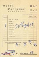 Ancienne Facture De L'Hôtel Bar Portamar, Almuñecar (Espagne) (12/7/1973) - Spain