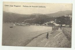 LUINO - PARTENZA DEL PIROSCAFO LOMBARDIA 1914  - VIAGGIATA FP - Varese