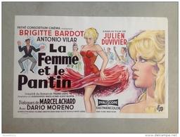 BRIGITTE BARDOT «la Femme Et Le Pantin «Dario Moreno  Affiche Original 1960 (PARFAIT ÉTAT) 37 X 55 Cm. - Manifesti & Poster