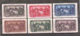 Slovakia 1942,Education Society,Scott # 77-82,VF MNH** (MB-5) - Slovakia