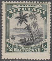 AITUTAKI     SCOTT NO. 28   MINT HINGED    YEAR  1920 - Aitutaki