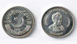 "Pakistan 50 Rupee 2017/2018 Coin ""Dr Ruth Katharina Martha Pfau Germany"" UNC - Pakistan"